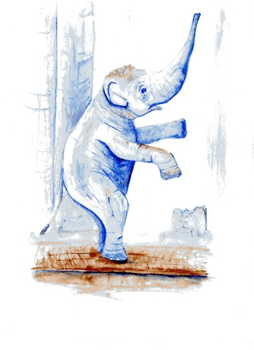 Elephant in Watercolour