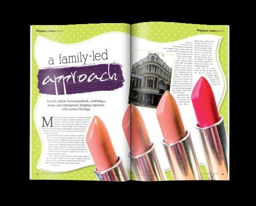 Magazine spread for FEAST Magazine