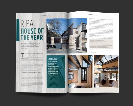 Magazine spread for PAD Magazine