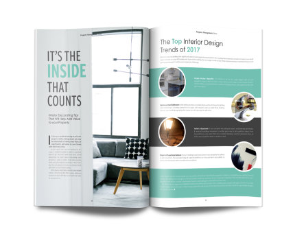 Magazine spread design for PAD Magazine