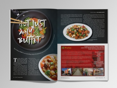 Magazine spread for FEAST magazine